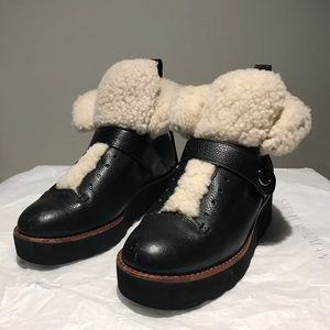 Coach winter leather booties